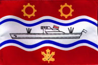 Thorold red, white and blue City Flag