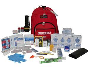 emergency bag with supplies